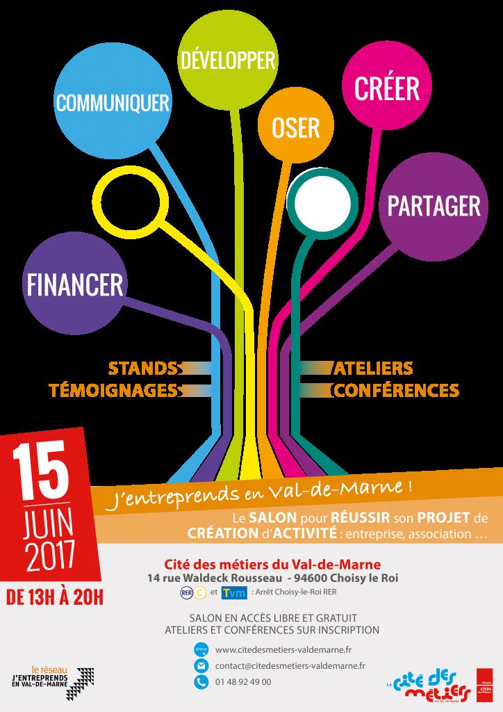 Affiche - Salon J'entreprends en Val-de-Marne - Juin 2017 - BD